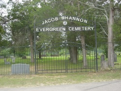 Jacob Shannon Evergreen Cemetery