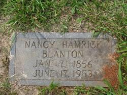 Nancy <i>Hamrick</i> Blanton