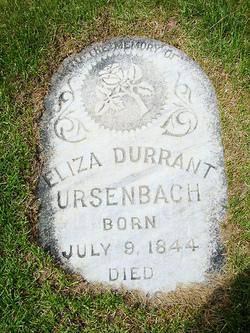 Eliza <i>Durrant</i> Ursenbach