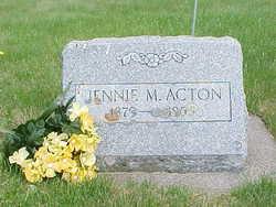 Jennie Martha <i>Birdsell</i> Acton
