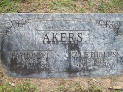 0llie Verna Lillian <i>Phillips</i> Akers