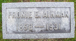 Sophronia E Fronie <i>Sheely</i> Aikman