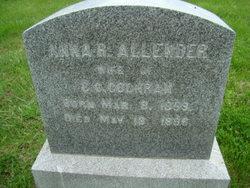 Anna R <i>Allender</i> Cochran