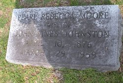 Pearl Rebecca <i>Moore</i> Johnston