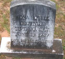Frances Edna <i>Rowell</i> Brownlee