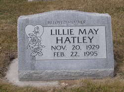 Lillie May <i>Farnworth Jensen</i> Hatley