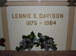 Lennie Edna <i>Emsweller</i> Davison