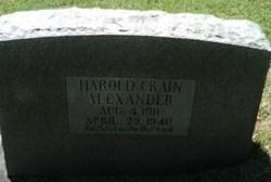 Harold Crain Alexander