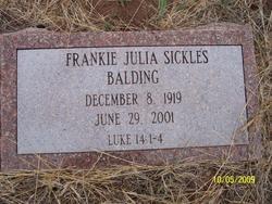 Frankie Julia <i>Sickles</i> Balding