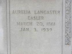 Aurelia Essendine <i>Lancaster</i> Easler
