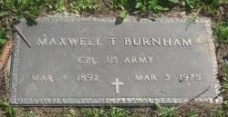 Maxwell T Burnham