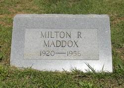 Milton R Maddox