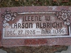 Ileene W <i>Larson</i> Albright