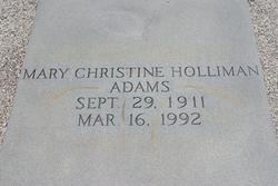 Mary Christine <i>Holliman</i> Adams