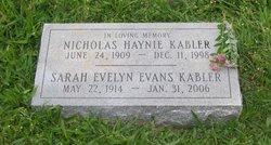 Sarah Evelyn <i>Evans</i> Kabler