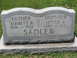 Lettie A <i>Skiles</i> Sadler
