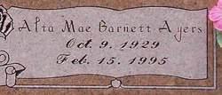 Alta Mae <i>Barnett</i> Ayers