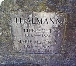 Marie <i>Metzner</i> Thalmann