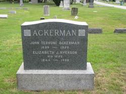 Elizabeth J <i>Ryerson</i> Ackerman
