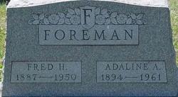 Adaline A <i>Hall</i> Foreman