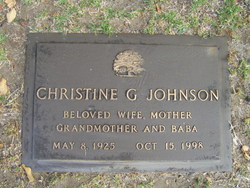 Christine G Johnson