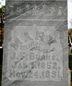 Mary Elizabeth <i>Langston</i> Burns