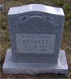 Mattie <i>Dodd</i> Bennett