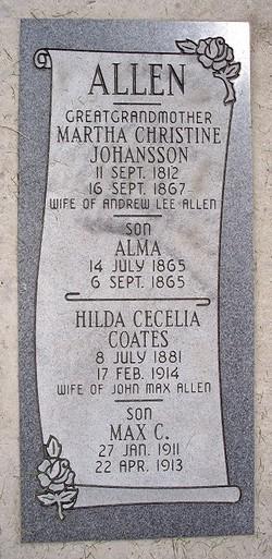 Martha Christine <i>Johansson</i> Allen