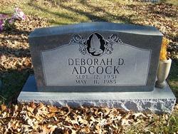 Deborah D Adcock