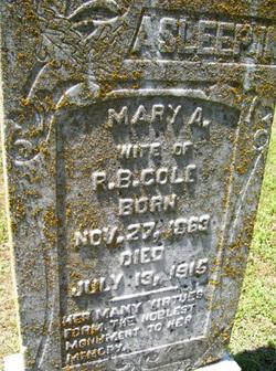 Mary A. <i>Pate</i> Cole