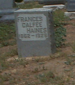 Frances Strong <i>Calfee</i> Haines