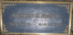 Elizabeth A. Betty <i>Hill</i> Houston