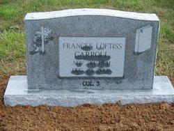 Frances Virginia <i>Loftiss</i> Carroll