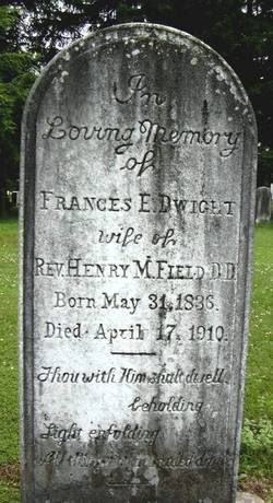 Frances E. Fanny <i>Dwight</i> Field