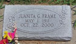 Juanita G <i>Lingle</i> Frame