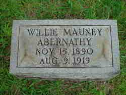 Willie <i>Mauney</i> Abernathy