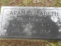 Sarah Elizabeth <i>Bunch</i> Bradshaw