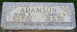 Hazel B <i>Davis</i> Adamson