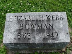 Elizabeth C. <i>Webb</i> Bowman