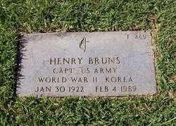 Capt Henry Bruns