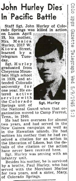 Sgt John J. Hurley