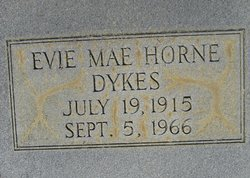 Evie Mae <i>Horne</i> Dykes