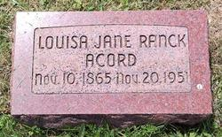 Louisa Jane <i>Ranck</i> Acord