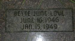 Betty June Love