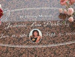 Jeannie Lou <i>Orbistondo</i> Peabody