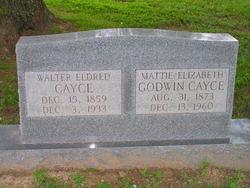 Mrs Mattie Elizabeth <i>Godwin</i> Cayce