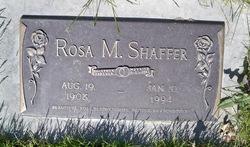 Rosa M Shaffer