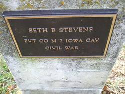 Pvt Seth B. Stevens