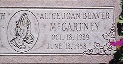 Alice JoAn <i>Beaver</i> McCartney
