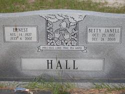Betty Janell <i>Hall</i> Hall
